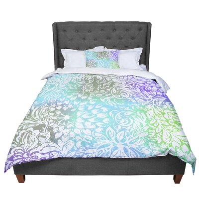 Vikki Salmela Bloom Softly Comforter Size: Twin, Color: Gray/Blue