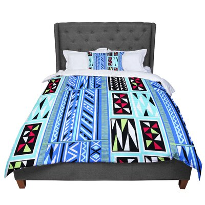 Vikki Salmela American Blanket Pattern Comforter Size: King, Color: Blue