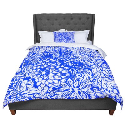 Vikki Salmela Bloom Softly Comforter Size: King, Color: Blue