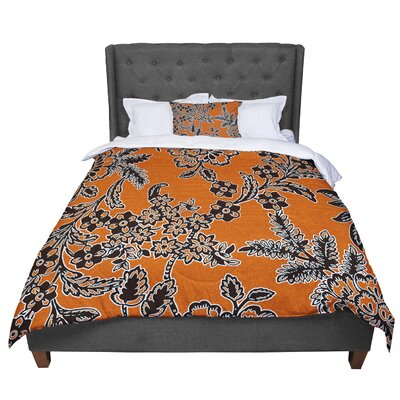 Vikki Salmela Blossom Comforter Size: Twin, Color: Orange