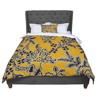 Vikki Salmela Blossom Comforter Size: King, Color: Gold