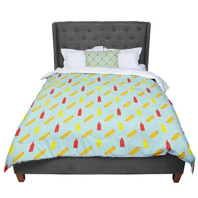 Will Wild Hot Dog Pattern II Comforter Size: Twin