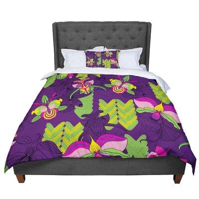 Yenty Jap Orchids Festival Comforter Size: Queen