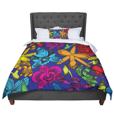 Yenty Jap Lovely Orchids Comforter Size: King