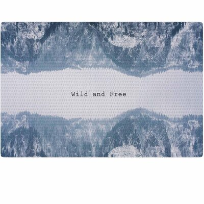Suzanne Carter Wild and Free Digital Blue/Gray Area Rug Rug Size: 2' x 3'