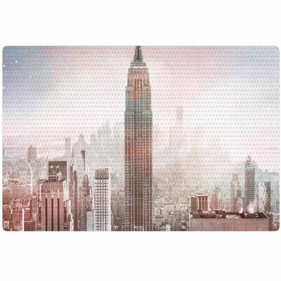 Suzanne Carter NYC Digital Pink/Gray Area Rug Rug Size: 4 x 6