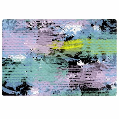 Vasare Nar Watercolor Texture Lavendar Area Rug Rug Size: 2 x 3