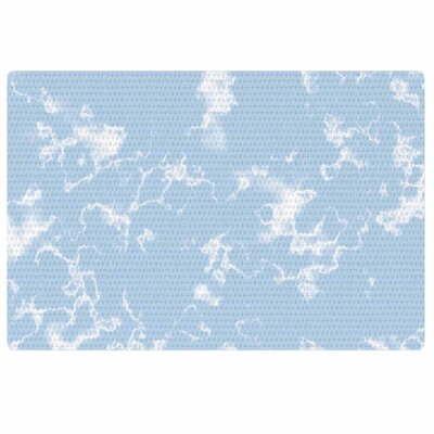 Vasare Nar Marble Clouds White/Blue Area Rug Rug Size: 2 x 3