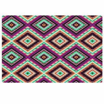 Vasare Nar Boho Gipsy Purple/Green Area Rug Rug Size: 4 x 6