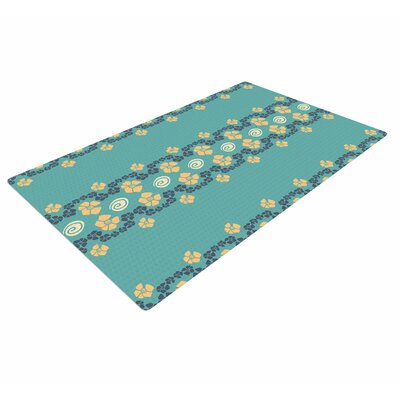 Zara Martina Mansen Flora Formations Green/Yellow Area Rug Rug size: 4 x 6
