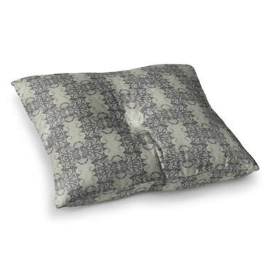 Illusion Damask by Mydeas Floor Pillow Size: 23 x 23, Color: Gray