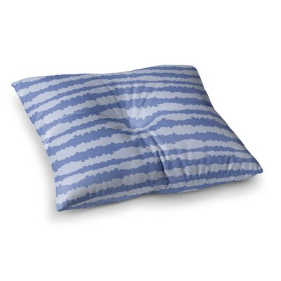 Nautical Breeze Ocean Ripple by Mydeas Floor Pillow Size: 26 x 26