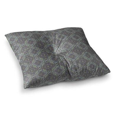 Scroll Damask Vector by Mydeas Floor Pillow Size: 23 x 23