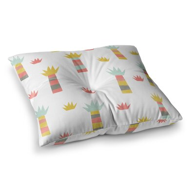 Tropical Pastel by Alik Arzoumanian Floor Pillow Size: 26 x 26