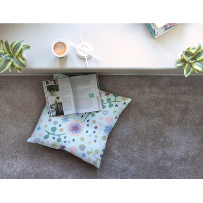 Morning Flowers by Alik Arzoumanian Floor Pillow Size: 23 x 23