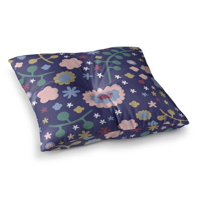 Night Floral Nature by Alik Arzoumanian Floor Pillow Size: 26 x 26