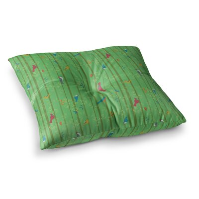 Hello Birdies by Allison Beilke Floor Pillow Size: 23 x 23