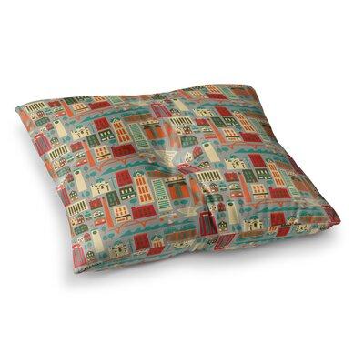 My Fair Milwaukee City by Allison Beilke Floor Pillow Size: 26 x 26