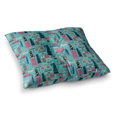 My Kind of Chicago by Allison Beilke Floor Pillow Size: 23 x 23
