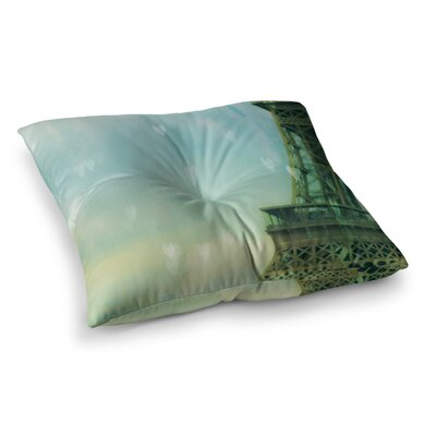 Paris Dreams Tower by Ann Barnes Floor Pillow Size: 26 x 26