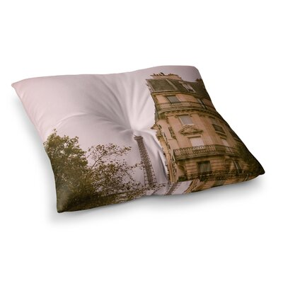 Lady Beckons Blush by Ann Barnes Floor Pillow Size: 23 x 23