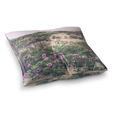 Morning at the Beach Flowers by Ann Barnes Floor Pillow Size: 23 x 23