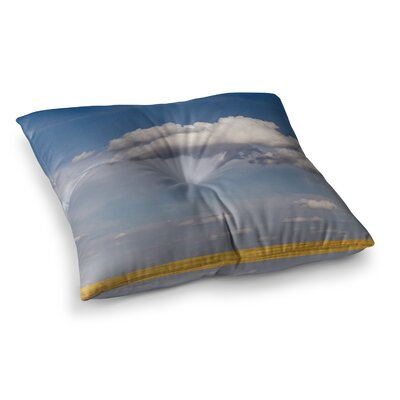 Big Sky Clouds by Ann Barnes Floor Pillow Size: 26