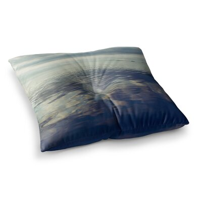 Cloud Atlas Water by Ann Barnes Floor Pillow Size: 23 x 23