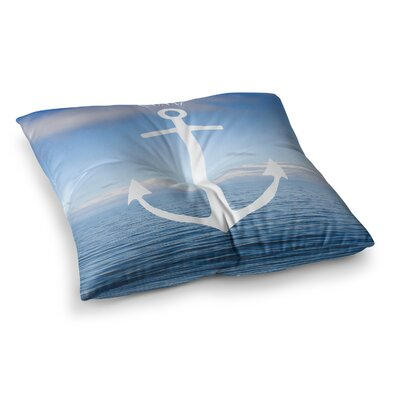 Roam III Anchor by Ann Barnes Floor Pillow Size: 23 x 23
