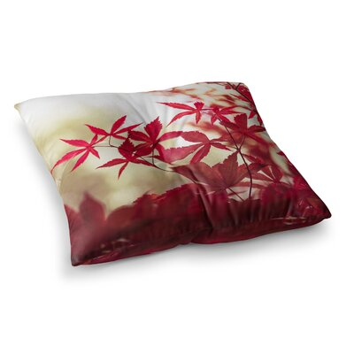 September Afternoon Leaves by Ann Barnes Floor Pillow Size: 26 x 26