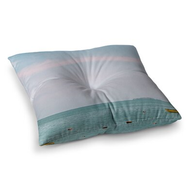 Castaway Coastal by Ann Barnes Floor Pillow Size: 23 x 23