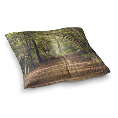 Forest Light Nature Photography Trees by Ann Barnes Floor Pillow Size: 26 x 26