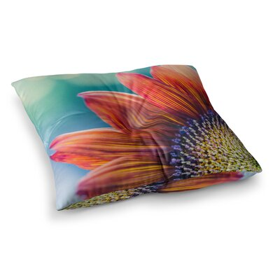 Fire and Ice Flower Bokeh by Ann Barnes Floor Pillow Size: 26 x 26