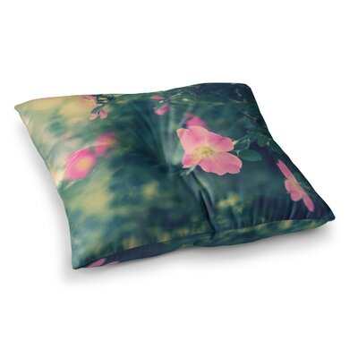 Central Park Roses Nature by Ann Barnes Floor Pillow Size: 23 x 23