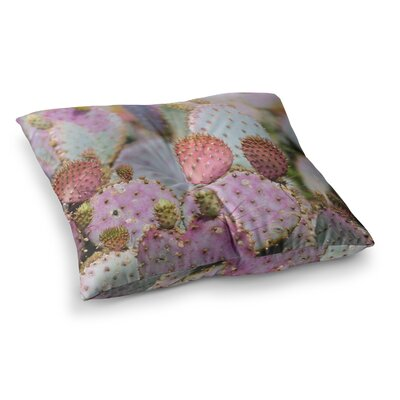 Cotton Candy Cacti by Ann Barnes Floor Pillow Size: 26 x 26