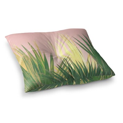 Neon Jungle II Pastel Photography by Ann Barnes Floor Pillow Size: 26 x 26