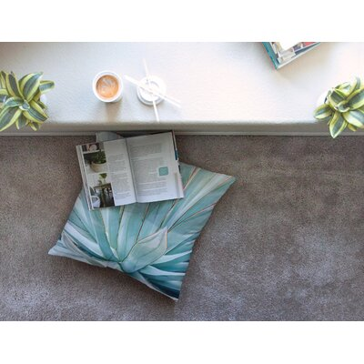 Agave Abstract Photography by Ann Barnes Floor Pillow Size: 23 x 23