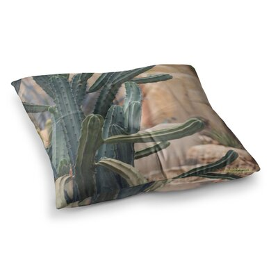 Cactus Jungle II Photography by Ann Barnes Floor Pillow Size: 23 x 23