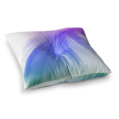 Feather by Alison Coxon Floor Pillow Size: 26 x 26