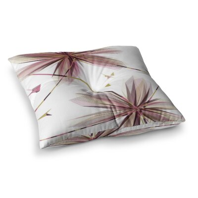 Flower Aubergine by Alison Coxon Floor Pillow Size: 26 x 26