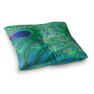 Fractal by Alison Coxon Floor Pillow Size: 26 x 26