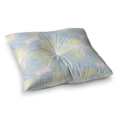 Paper Flower by Alison Coxon Floor Pillow Size: 26 x 26