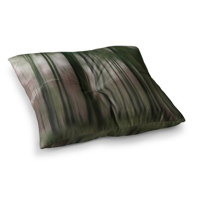 Forest Blur by Alison Coxon Floor Pillow Size: 26 x 26