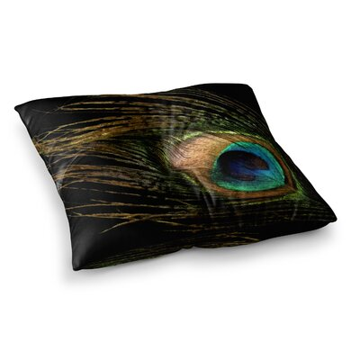 Peacock by Alison Coxon Floor Pillow Size: 23 x 23