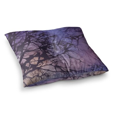 Fire Skies by Alison Coxon Floor Pillow Size: 26 x 26, Color: Blue