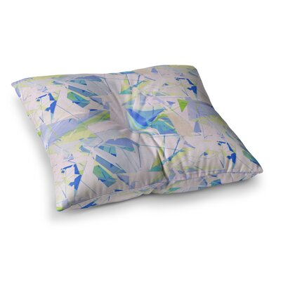 Shatter by Alison Coxon Floor Pillow Size: 26 x 26, Color: Blue