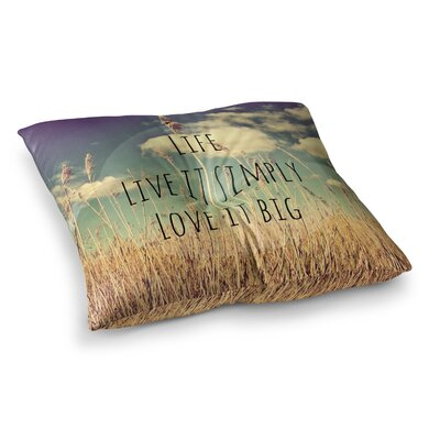 Life by Alison Coxon Floor Pillow Size: 23 x 23