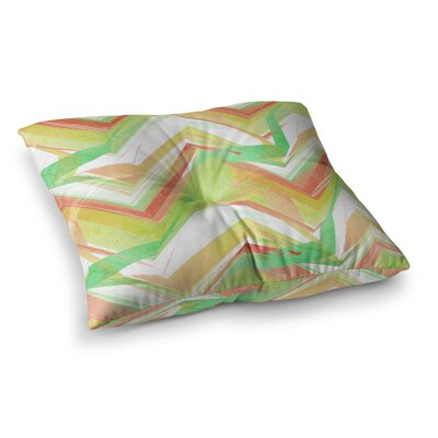 Summer Party Chevron by Alison Coxon Floor Pillow Size: 26 x 26