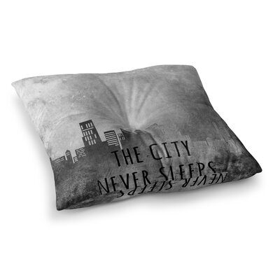 The City Never Sleeps by Alison Coxon Floor Pillow Size: 26 x 26