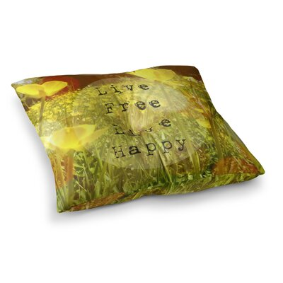 Live Free by Alison Coxon Floor Pillow Size: 23 x 23